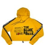 Respect Protect Love The Black Woman® Women's Crop Hoodie Sweatshirt