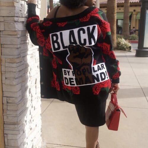 Black by Popular Demand® Unisex Rose Cardigan HGC Apparel