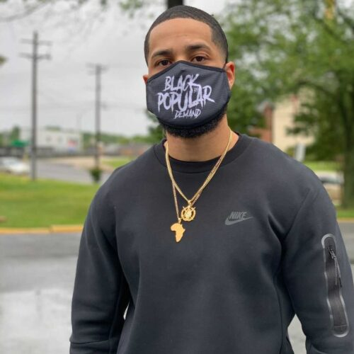 Black by Popular Demand® Black Graffiti Face Mask HGC Apparel