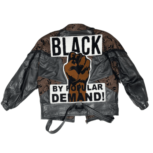 Black by Popular Demand® Women's Vintage Genuine Leather Biker Jacket HGC Apparel