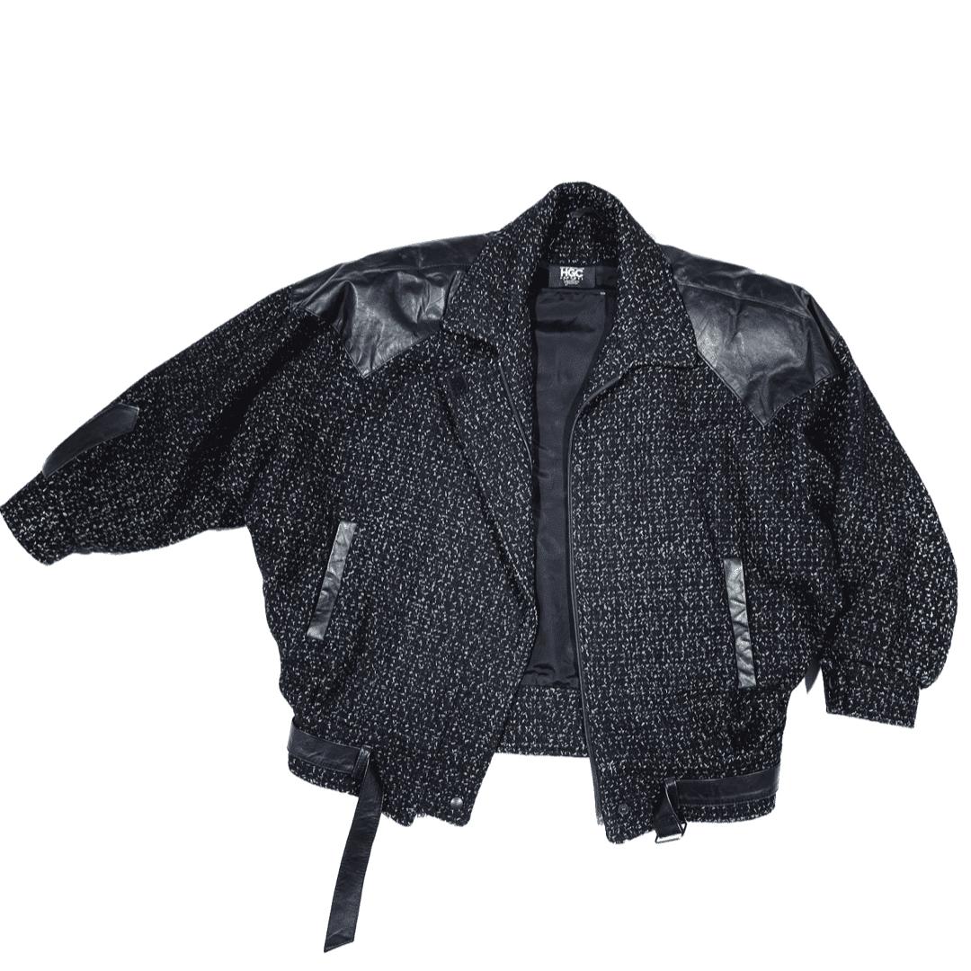 Black by Popular Demand® Women's Vintage Tweed Cropped Jacket HGC Apparel