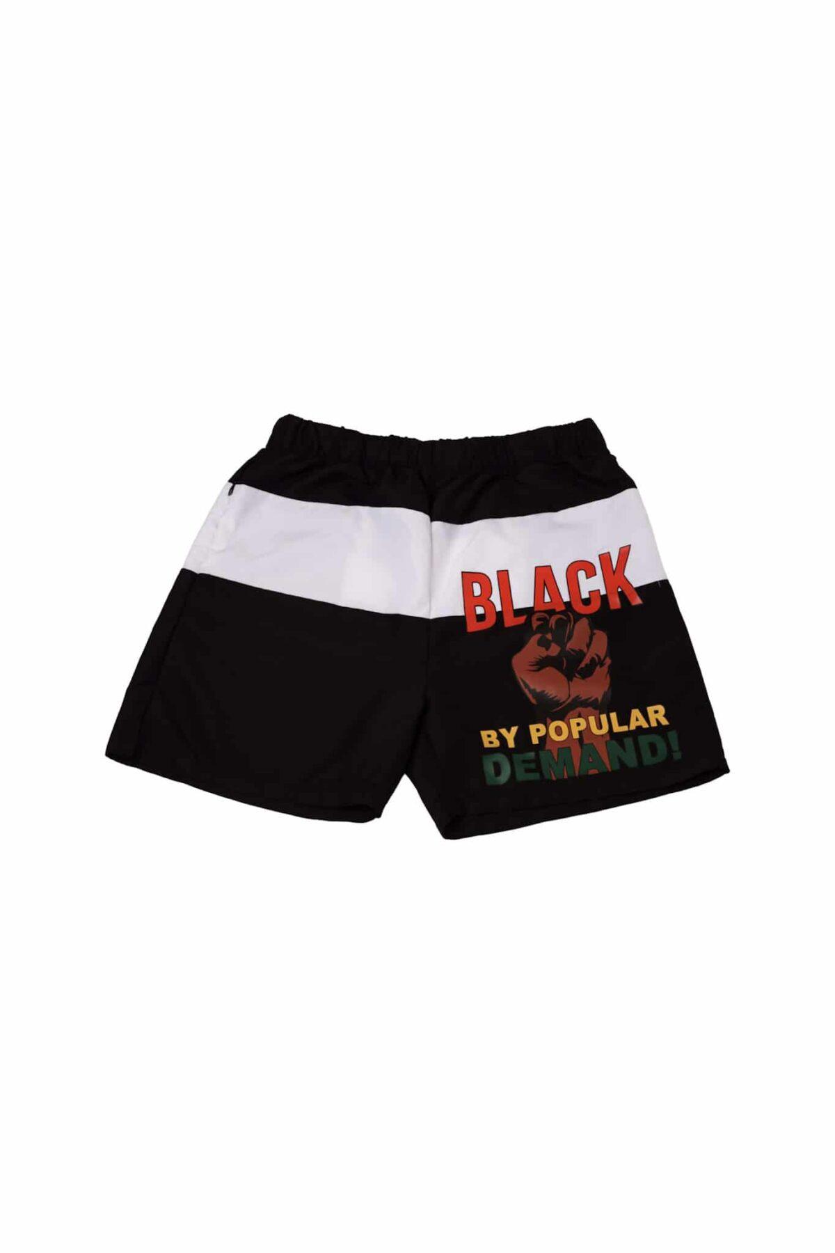 Black By Popular Demand® Unisex Black Board Shorts HGC Apparel