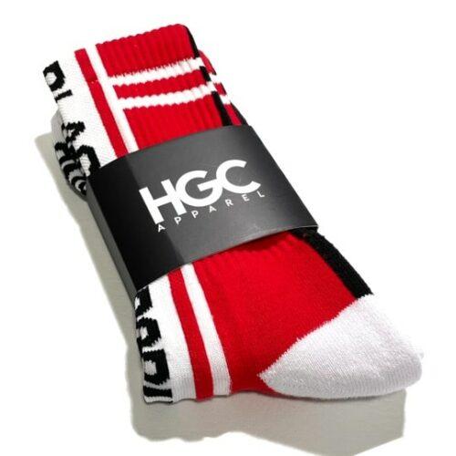 Black by Popular Demand® Black & Red Split Socks HGC Apparel