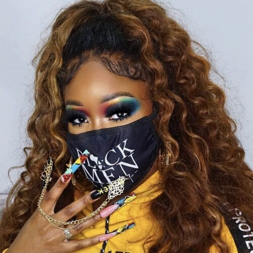 Black Men I Love You® Face Mask HGC Apparel