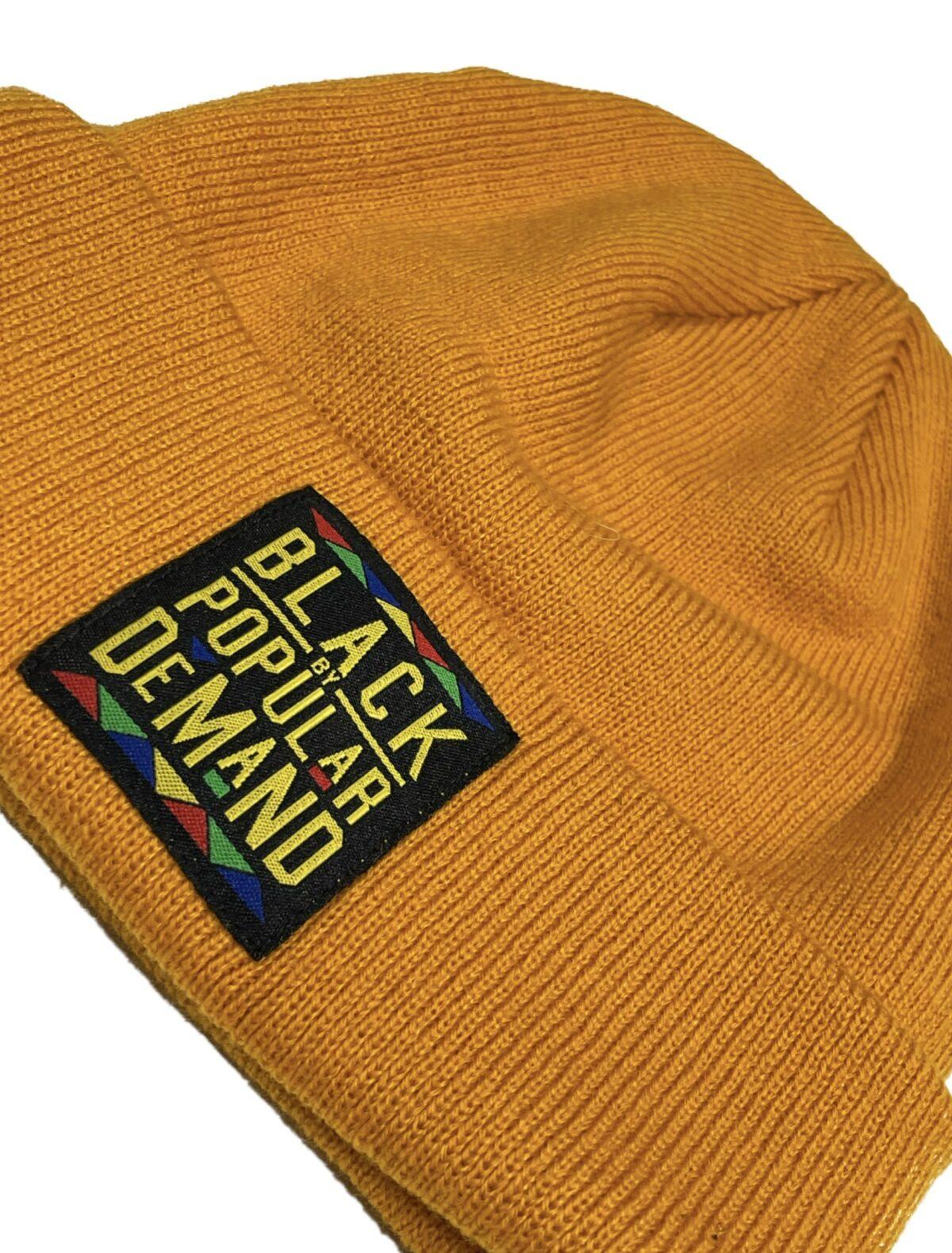 Black by Popular Demand® Yellow Unisex Beanie Hat HGC Apparel