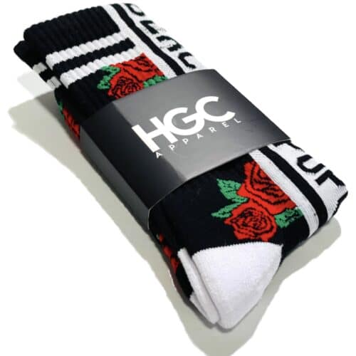 Black by Popular Demand® Signature Rose Socks HGC Apparel