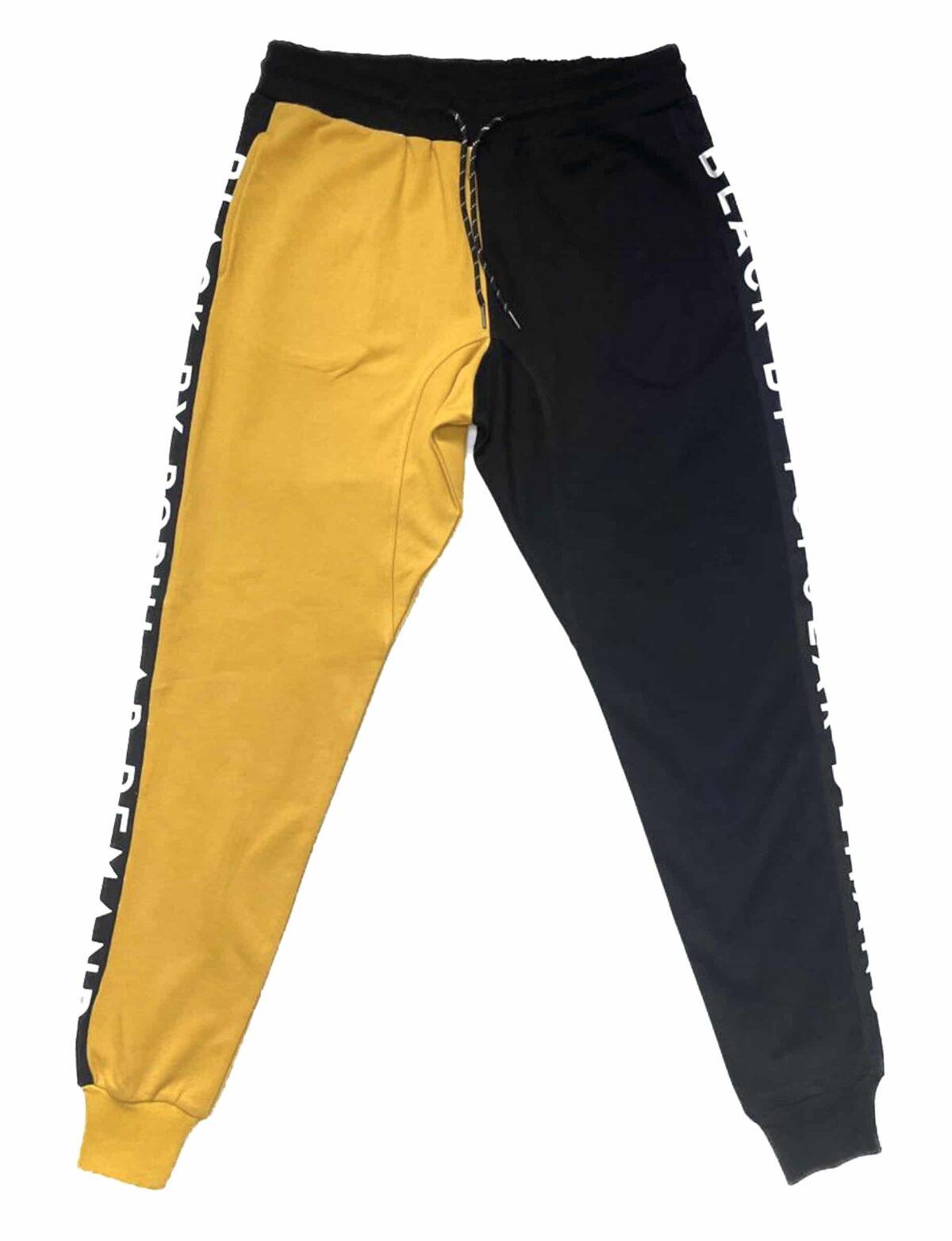 Black by Popular Demand® Unisex Black & Yellow Jogger Sweatpants HGC Apparel
