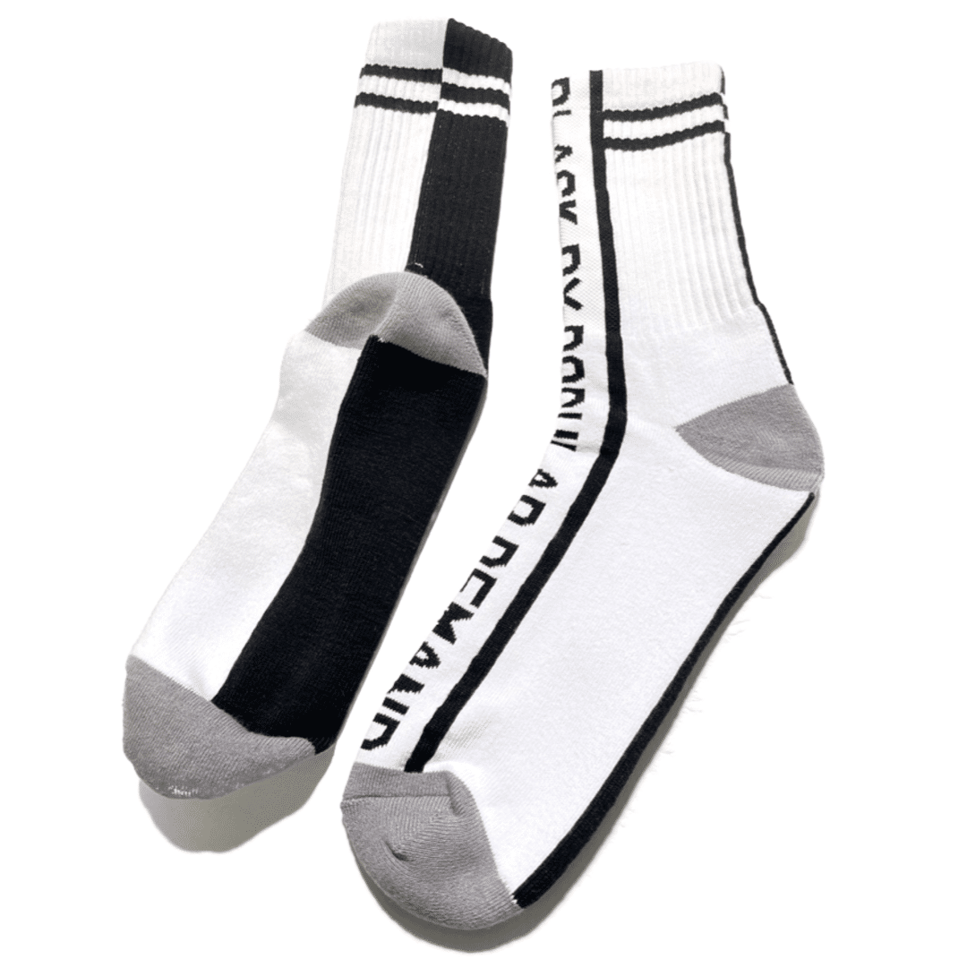Black by Popular Demand® Black & White Split Socks HGC Apparel