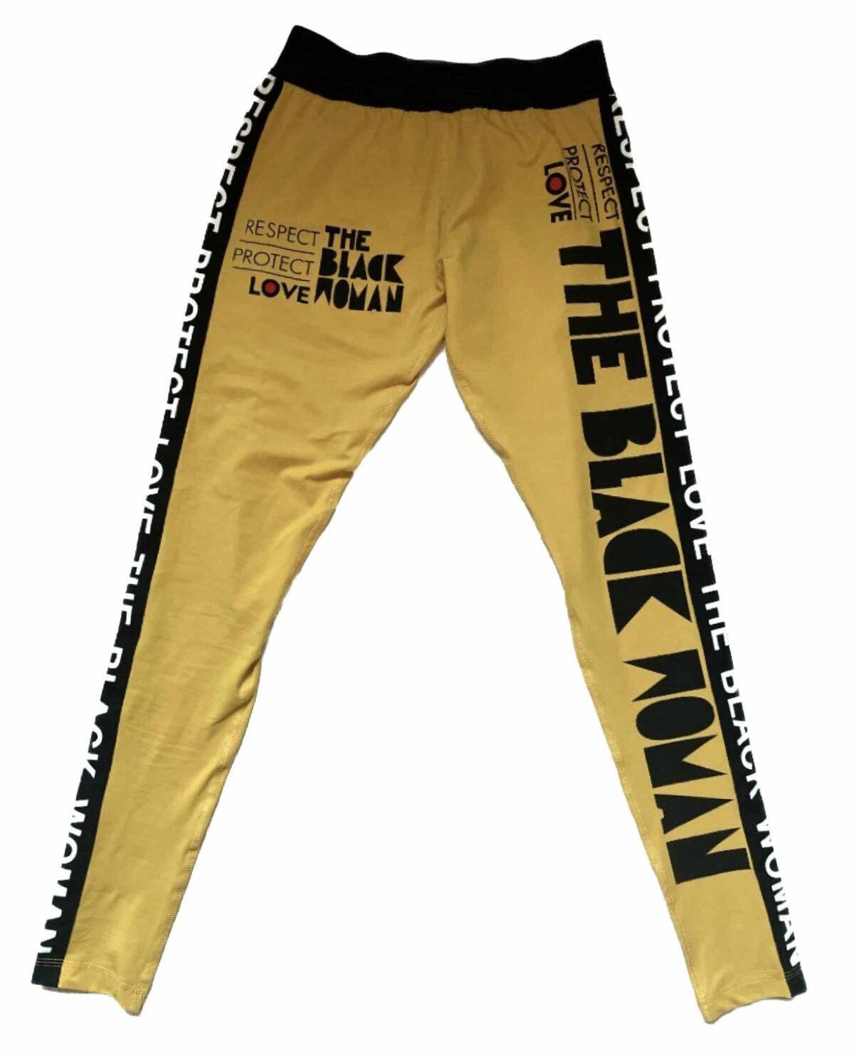 Respect Protect Love The Black Woman® Spandex Leggings Pants HGC Apparel