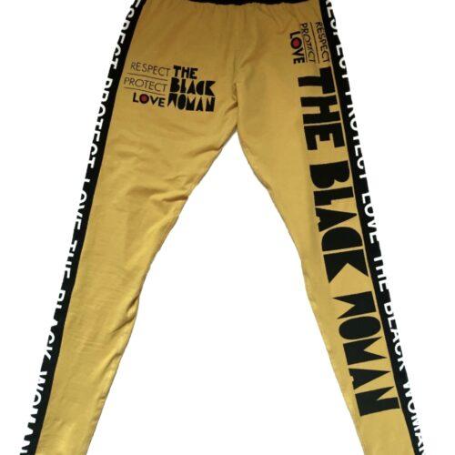 Respect Protect Love The Black Woman® Spandex Legging Pants HGC Apparel