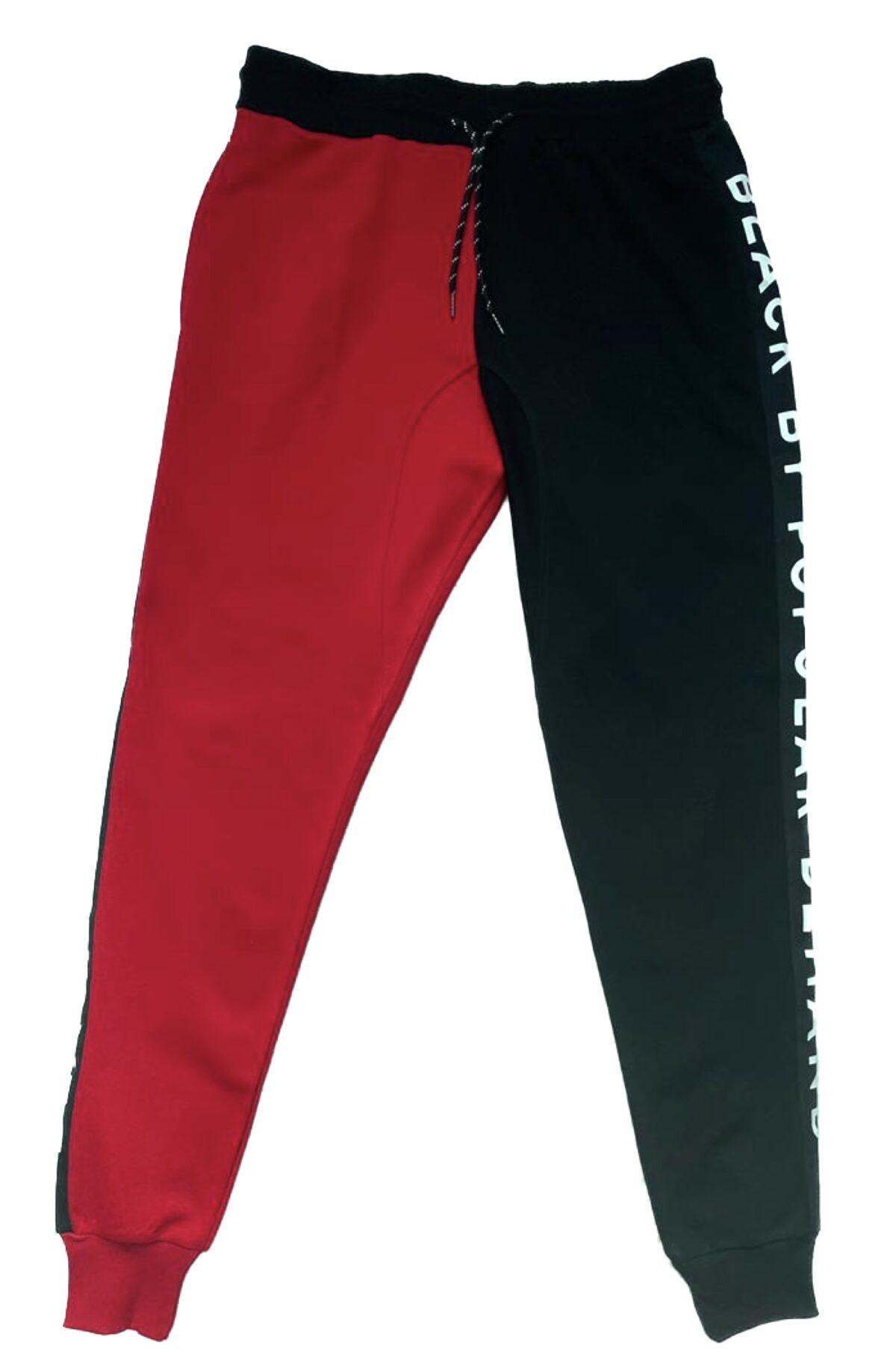 Black by Popular Demand® Unisex Black & Red Joggers Sweatpants HGC Apparel