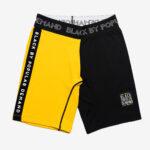 Black by Popular Demand® Black & Yellow Split Biker Shorts