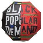 Black By Popular Demand® Red & Black Split Mini Umbrella