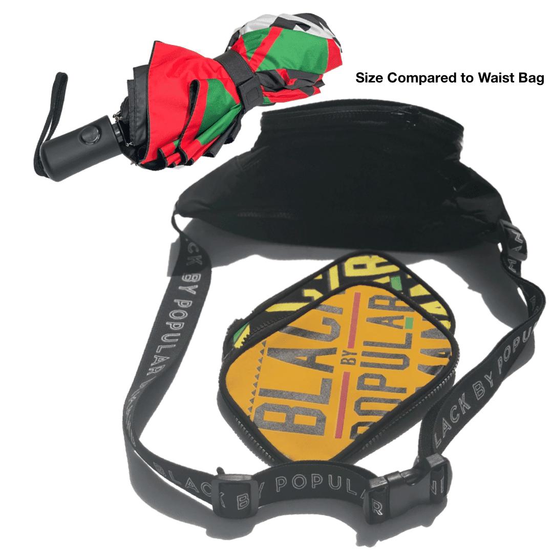 Black By Popular Demand® Red & Black Split Mini Umbrella HGC Apparel