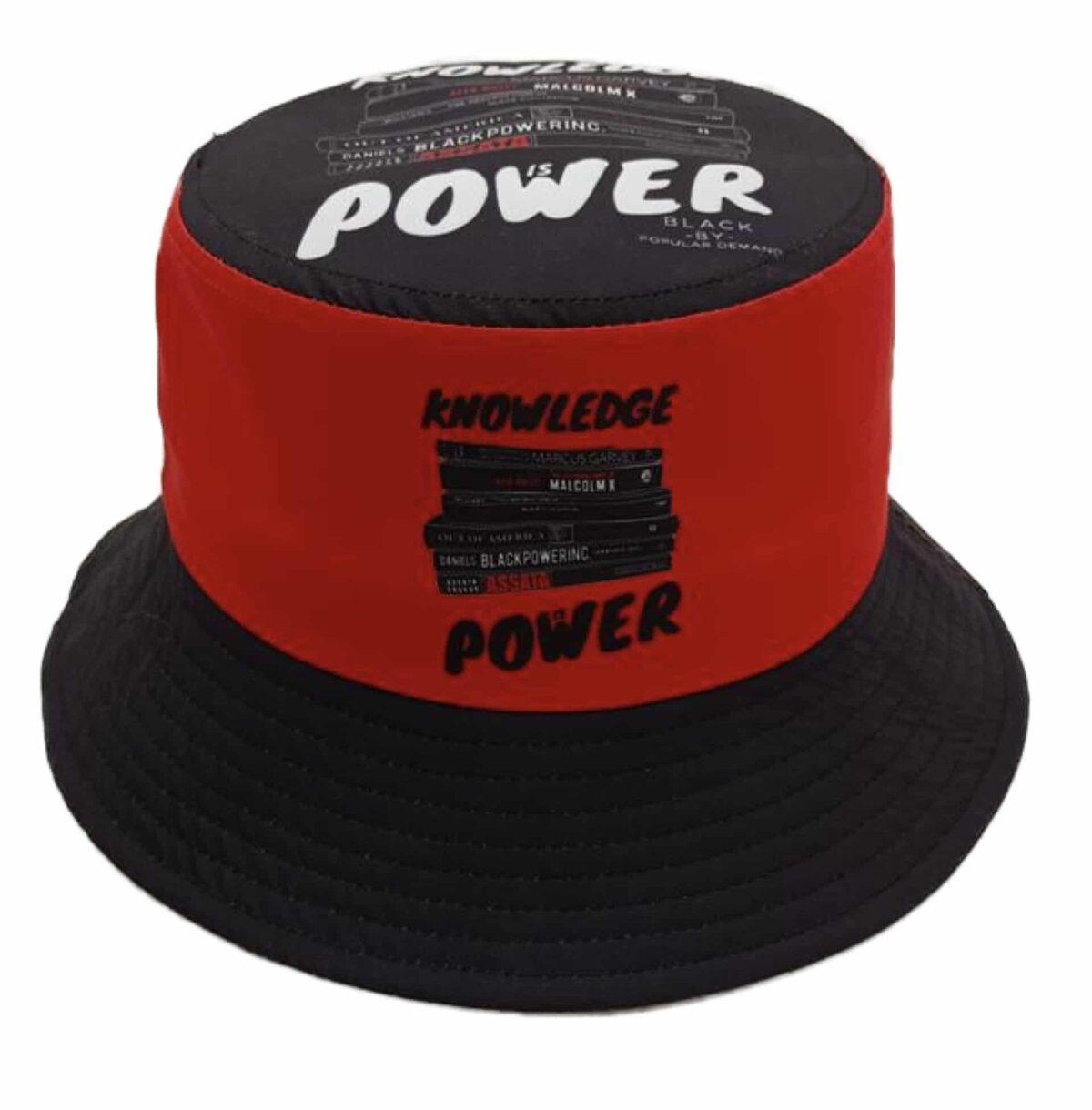 Knowledge is Power® Black Bucket Hat HGC Apparel