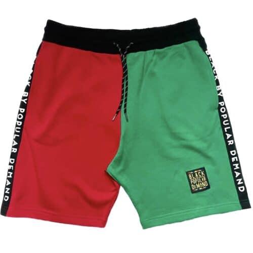 Black by Popular Demand® Unisex Homage Split Jogger Shorts HGC Apparel