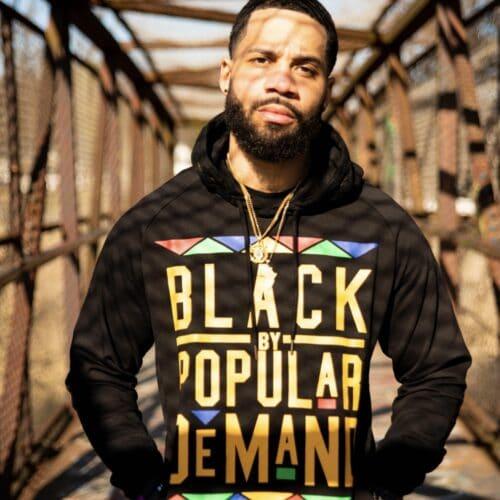 Black by Popular Demand® Black Unisex Hoodie Sweatshirt HGC Apparel