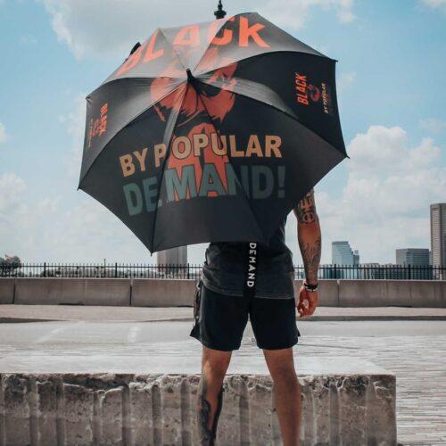Black by Popular Demand® Large Fist Logo Umbrella HGC Apparel