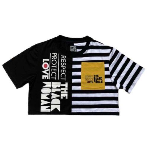 Respect Protect Love The Black Woman® Split Crop Shirt HGC Apparel