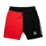 Black by Popular Demand® Black & Red Split Jogger Shorts