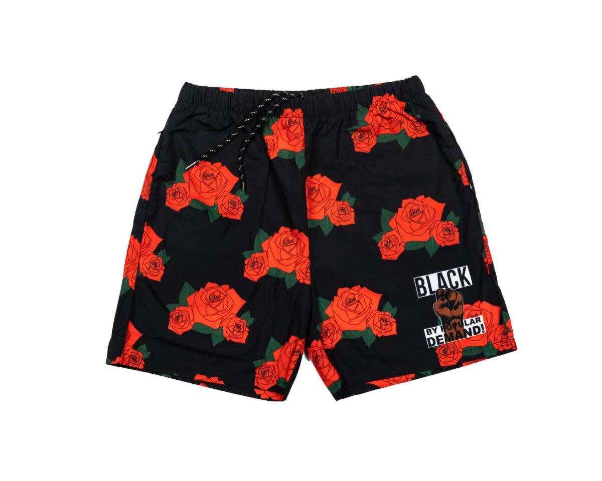 Black By Popular Demand® Unisex Rose Board Shorts HGC Apparel