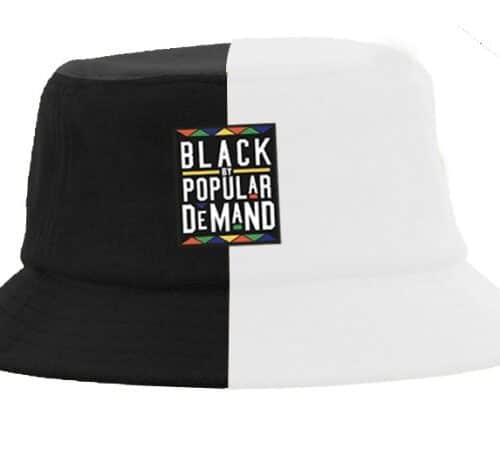 Black by Popular Demand® Black & White Split Bucket Hat HGC Apparel