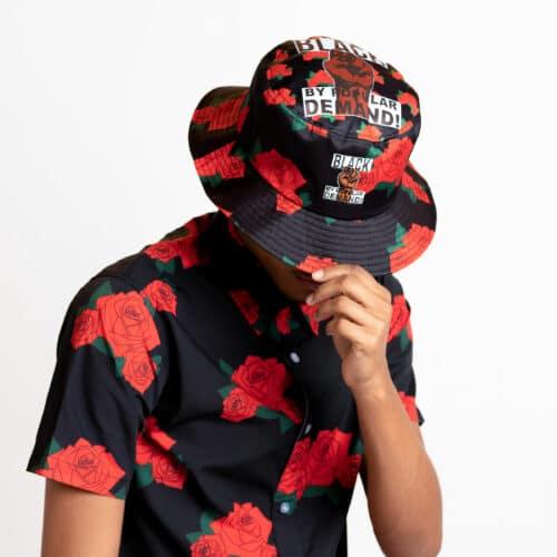 Black by Popular Demand® Unisex Rose Bucket Hat HGC Apparel