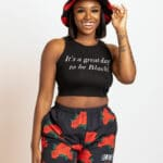 It's A Great Day To Be Black® Women's Black Crop Tank