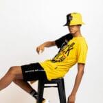 Black by Popular Demand® Black & Yellow Split Bucket Hat