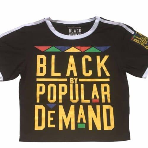 Black by Popular Demand® Women's Black Crop Shirt HGC Apparel