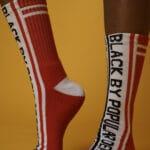 Black by Popular Demand® Black & Red Split Socks