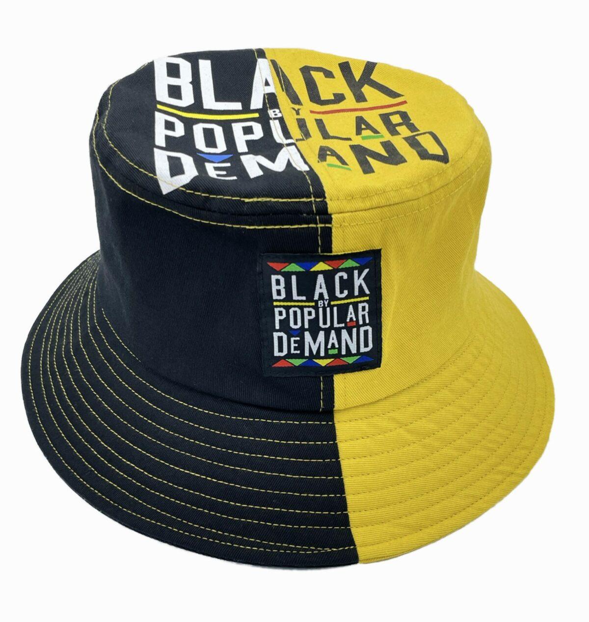Black by Popular Demand® Black & Yellow Split Bucket Hat HGC Apparel