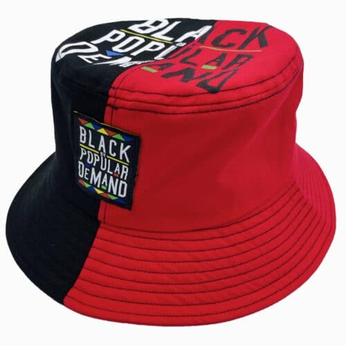 Black by Popular Demand® Black & Red Split Bucket Hat HGC Apparel