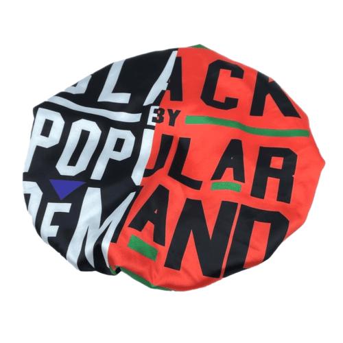 Black by Popular Demand® Black & Red Split Satin Bonnet HGC Apparel