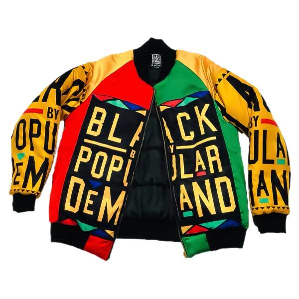 Black By Popular Demand® Unisex Homage Bomber Jacket HGC Apparel