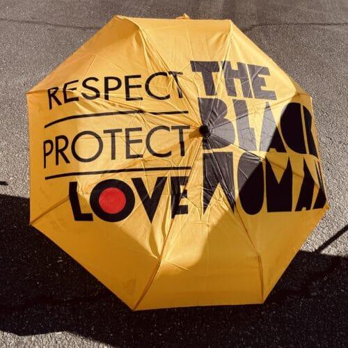 Respect Protect Love, The Black Woman® Mini Umbrella HGC Apparel